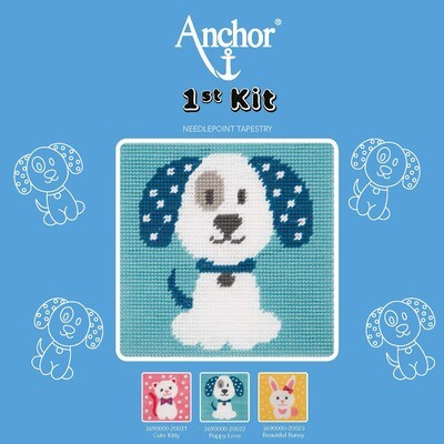 Anchor 1st Kit - Puppy Love Tapestry
