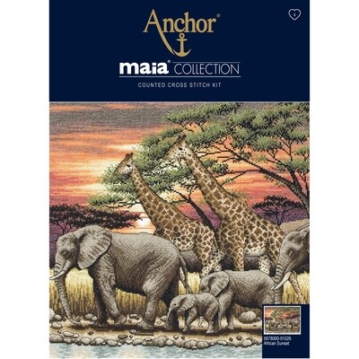 Maia Cross Stitch Kit - African Sunset