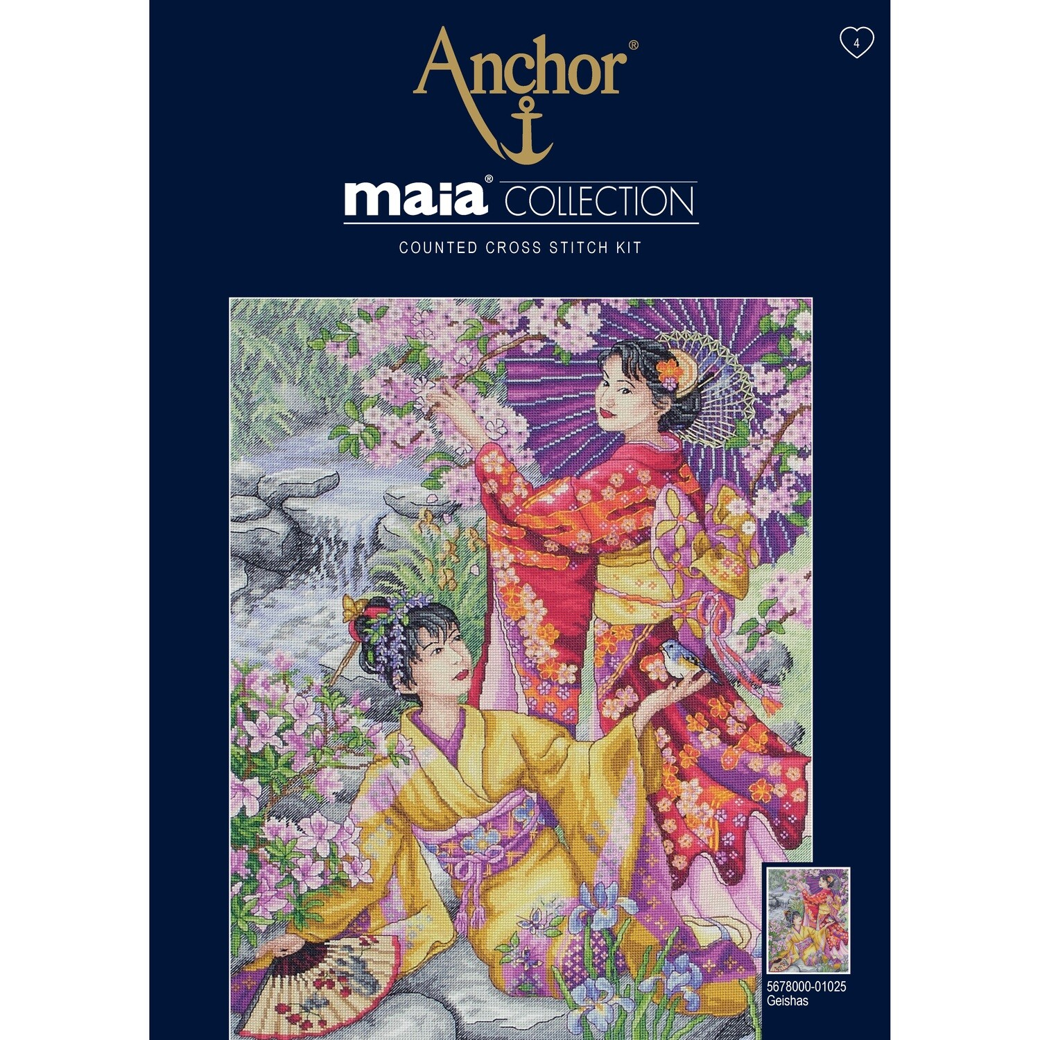 Maia Cross Stitch Kit - Geishas
