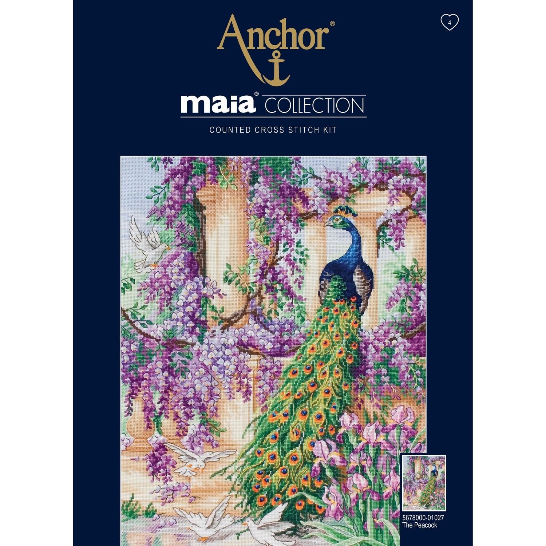 Maia Cross Stitch Kit - The Peacock