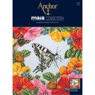 Maia Cross Stitch Kit - Spring Butterflies