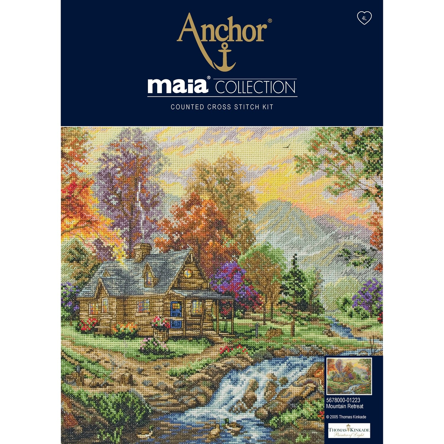 Maia Cross Stitch Kit - Mountain Retreat