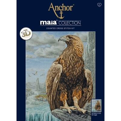 Maia Cross Stitch Kit - 3D Eagle