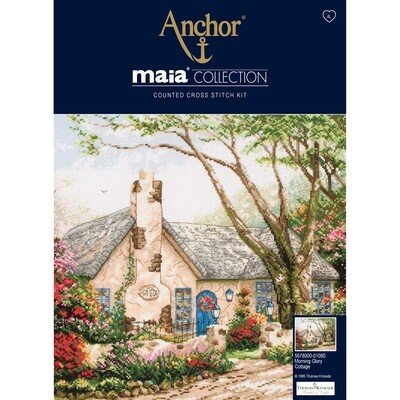 Maia Cross Stitch Kit - Morning Glory Cottage