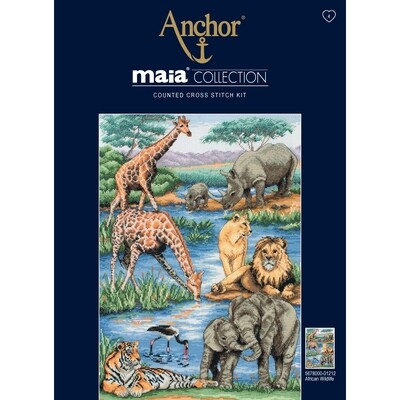 Maia Cross Stitch Kit - African Wildlife