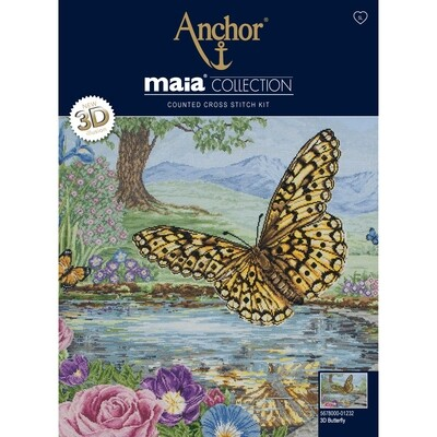 Maia Cross Stitch Kit - 3D Butterfly