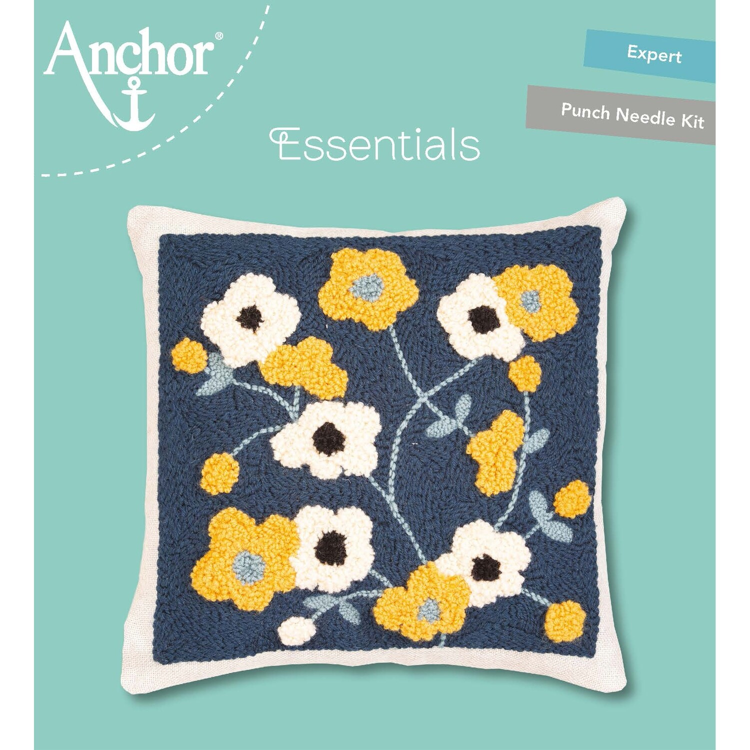 Anchor Essentials Punch Needle Kit - Blossom cushion 30 x 30 cm