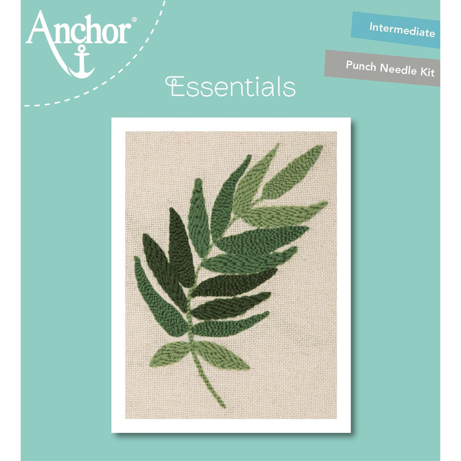 Anchor Essentials Punch Needle Kit - Palm Leaf (20 cm)