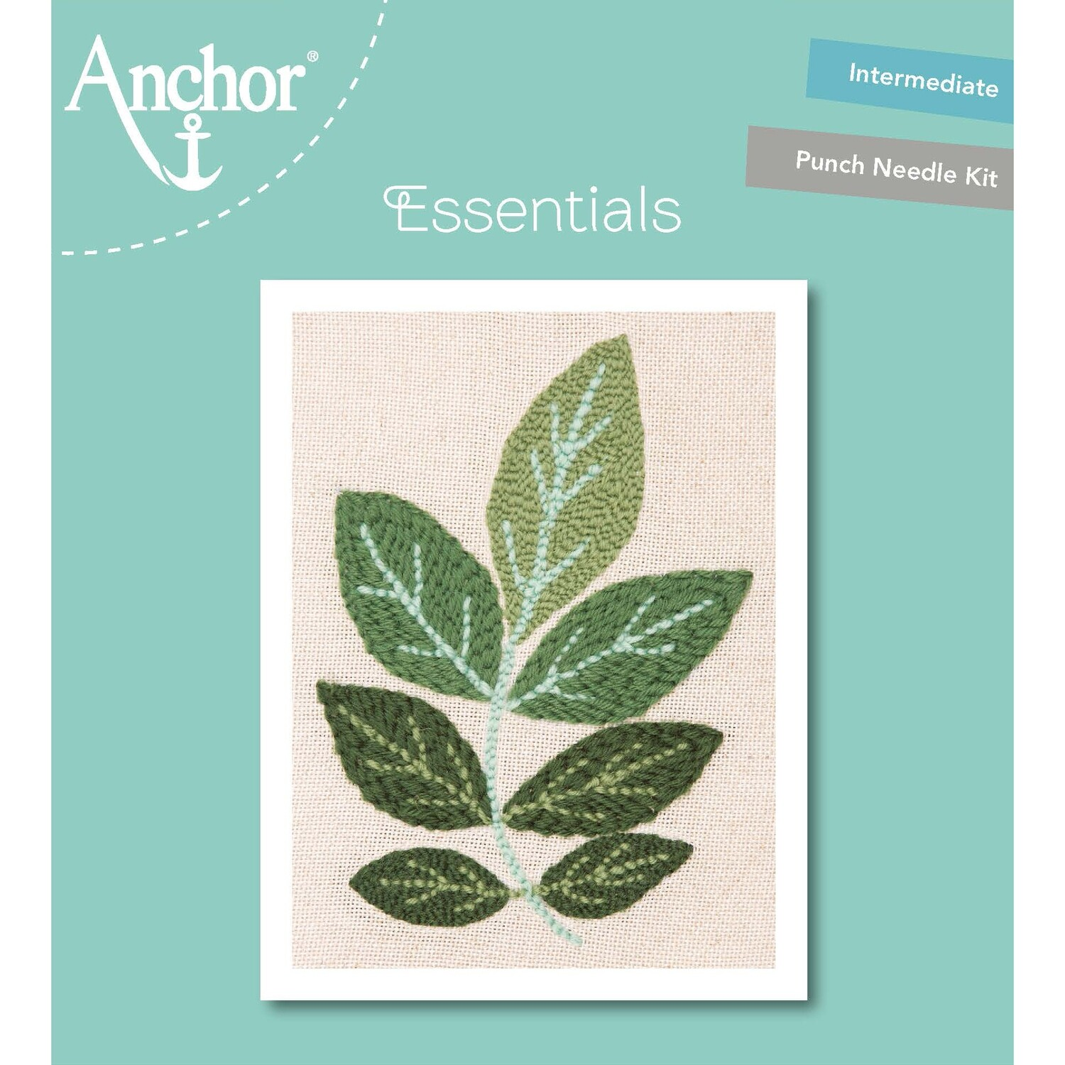 Anchor Essentials Punch Needle Kit - Ash leaf (20 cm)