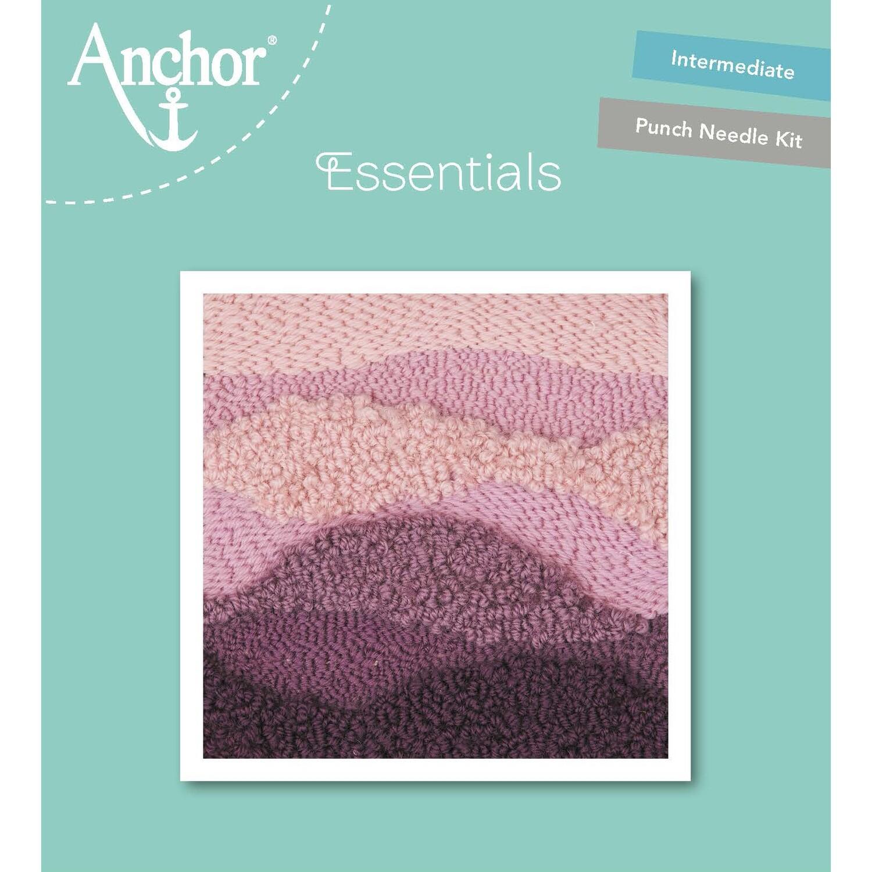 Anchor Essentials Punch Needle Kit - Mauve Wave (15 x 15 cm)