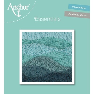 Anchor Essentials Punch Needle Kit - Green Wave (15 x 15 cm)