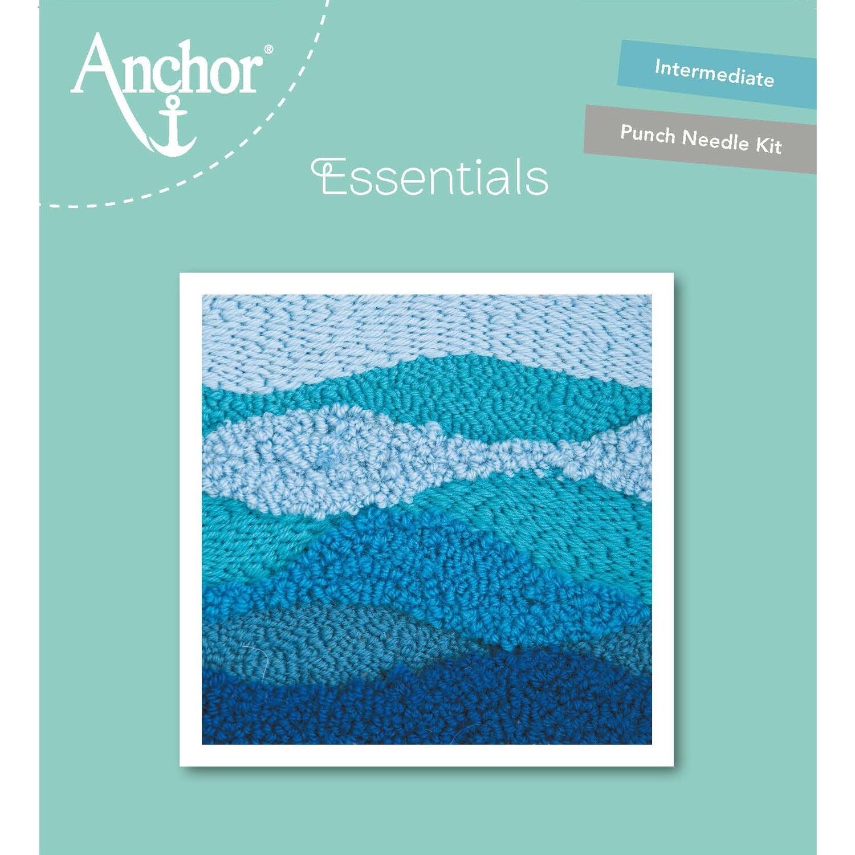 Anchor Essentials Punch Needle Kit - Blue Wave (15 x 15 cm)