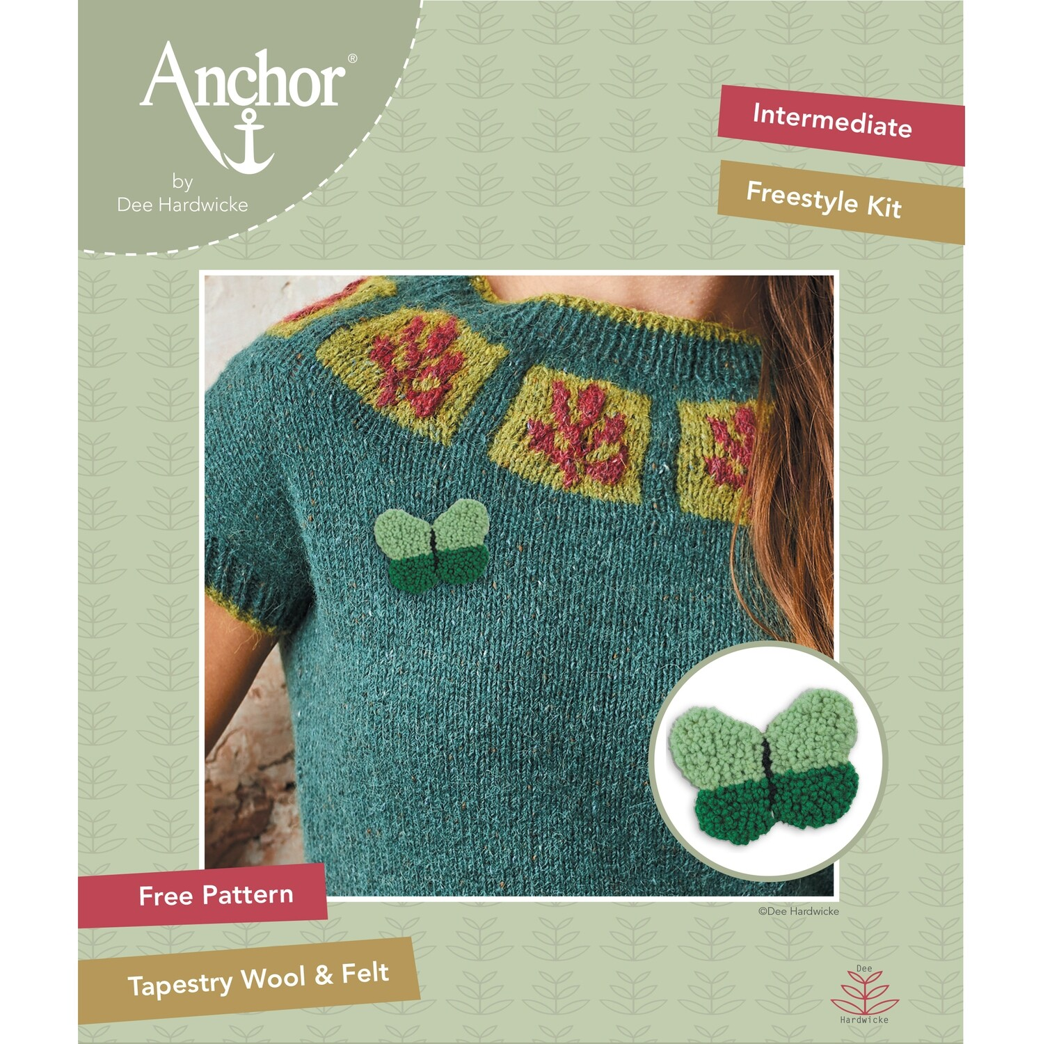 Anchor by Dee Hardwicke - Green Butterfly Freestyle Kit
