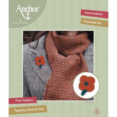 Anchor by Dee Hardwicke - Russet Flower Freestyle Kit