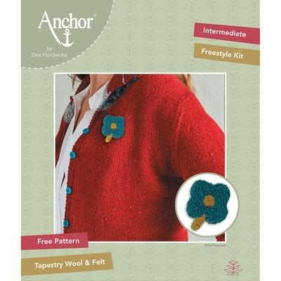 Anchor by Dee Hardwicke - Blue Flower Freestyle Kit