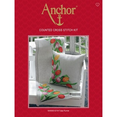Anchor Essentials Cross Stitch Kit - Tulips Runner
