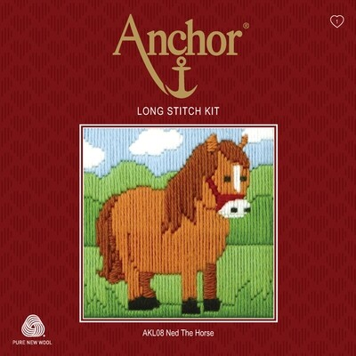 Anchor Starter Long Stitch Kit - Ned The Horse