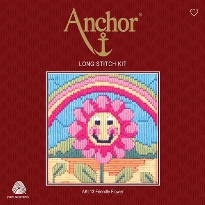Anchor Starter Long Stitch Kit - Friendly Flower