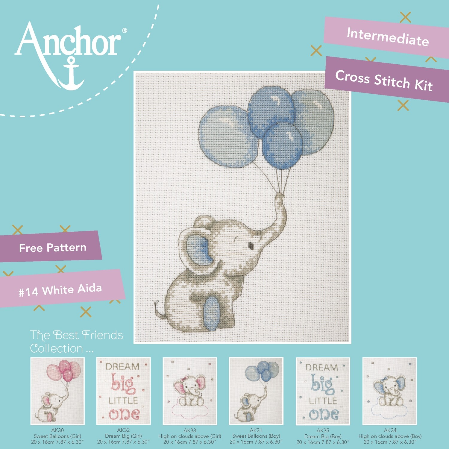 The Best Friends Collection - Sweet Balloons (Blue) 20x16cm