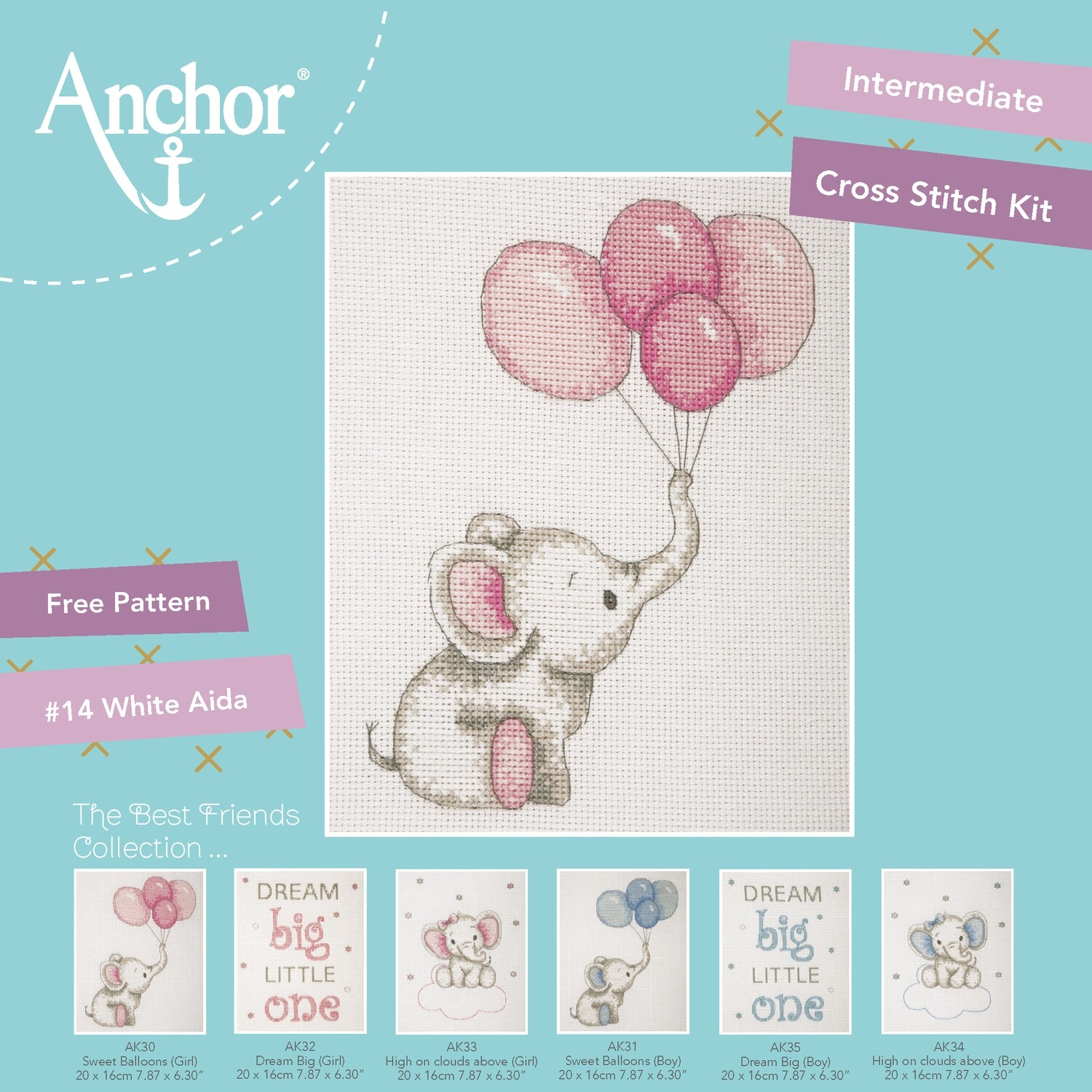 The Best Friends Collection - Sweet Balloons (Pink) 20x16cm