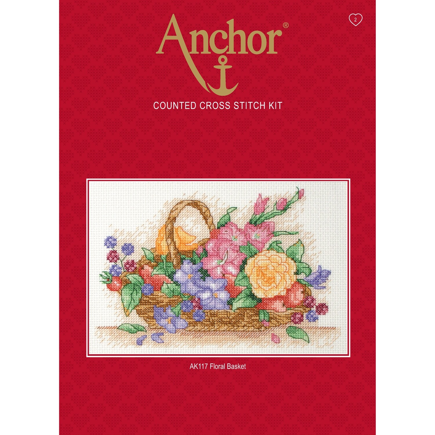 Anchor Starter Cross Stitch Kit - Floral Basket