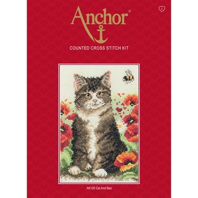 Anchor Starter Cross Stitch Kit - Cat and Bee