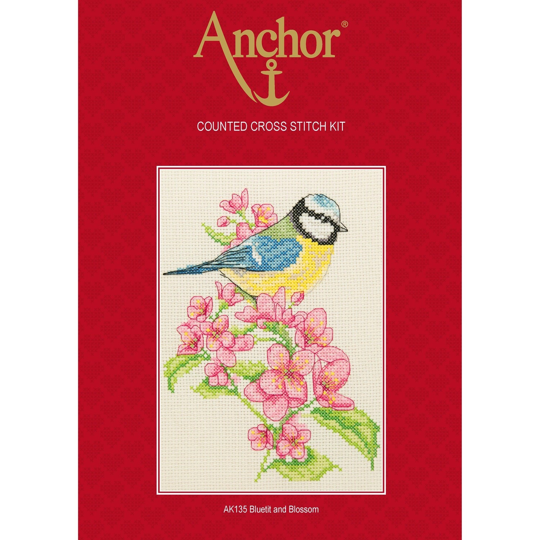 Anchor Starter Cross Stitch Kit - Bluetit and Blossom