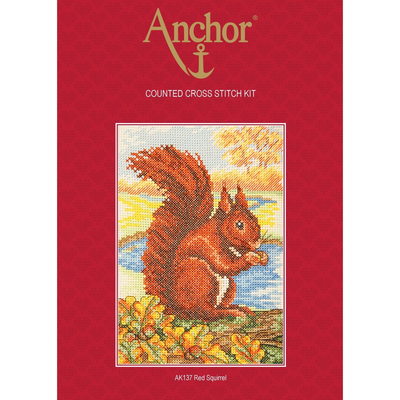 Anchor Essentials Cross Stitch Kit - Red Squirrel