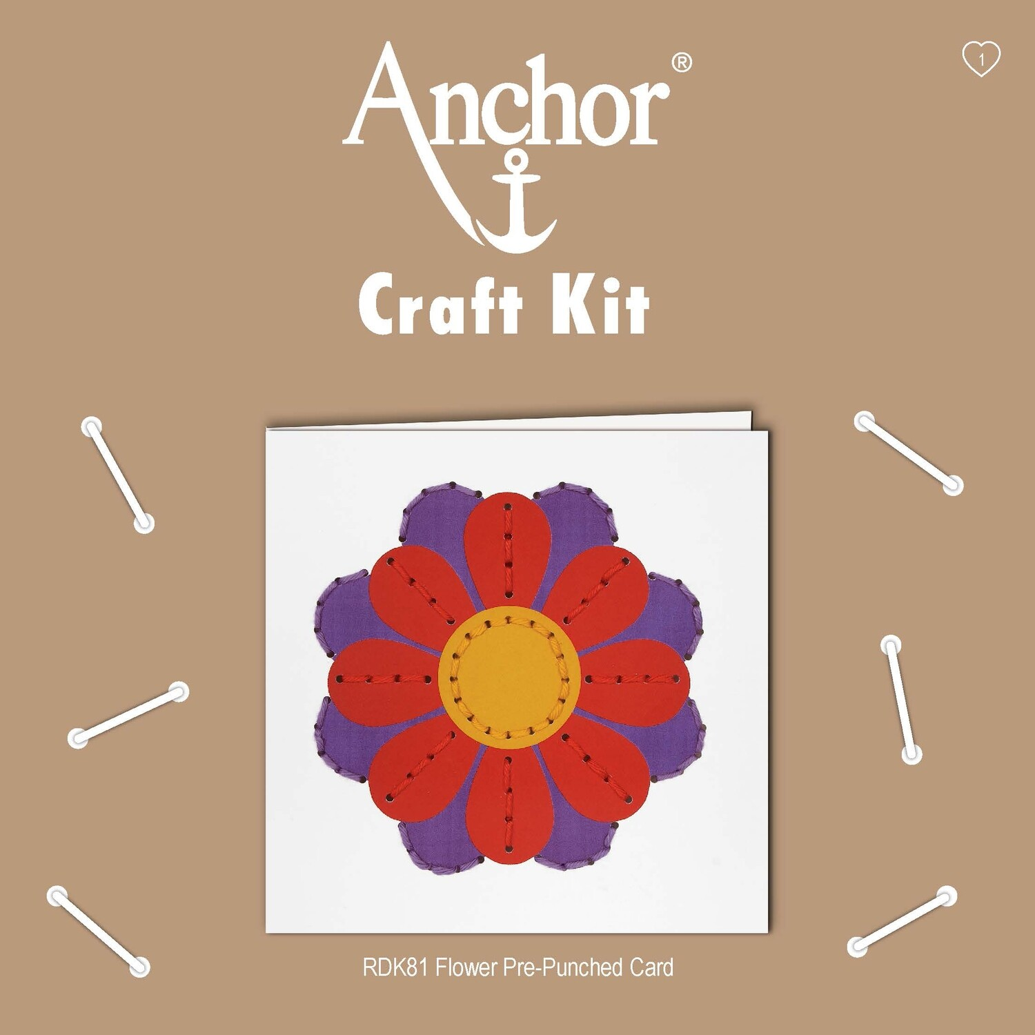 Anchor Craft Kit - Punch Card Flower