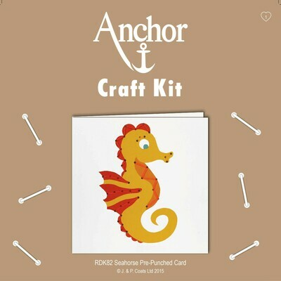 Anchor Craft Kit - Punch Card Seahorse