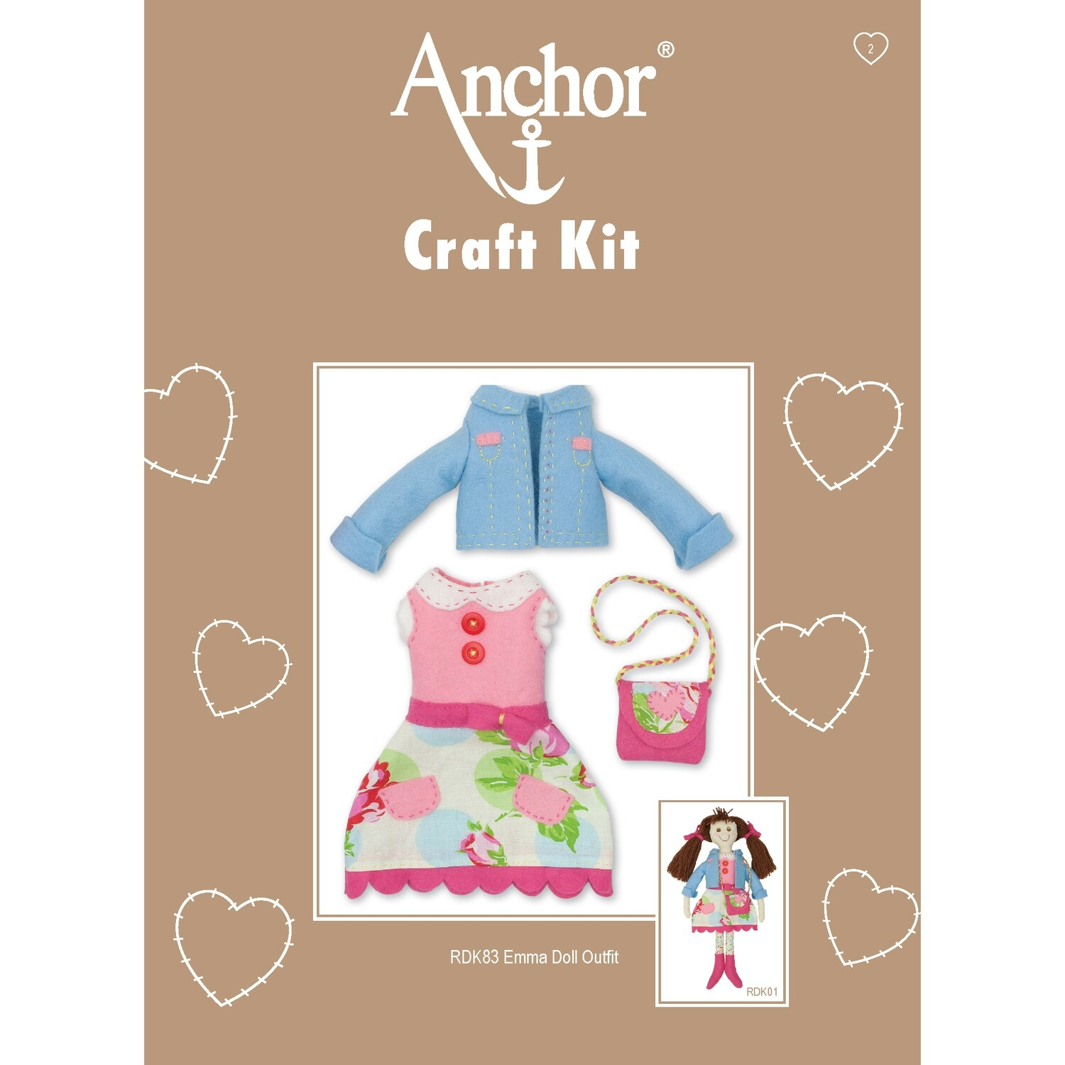 Anchor Craft Kit- Emma Doll Outfit