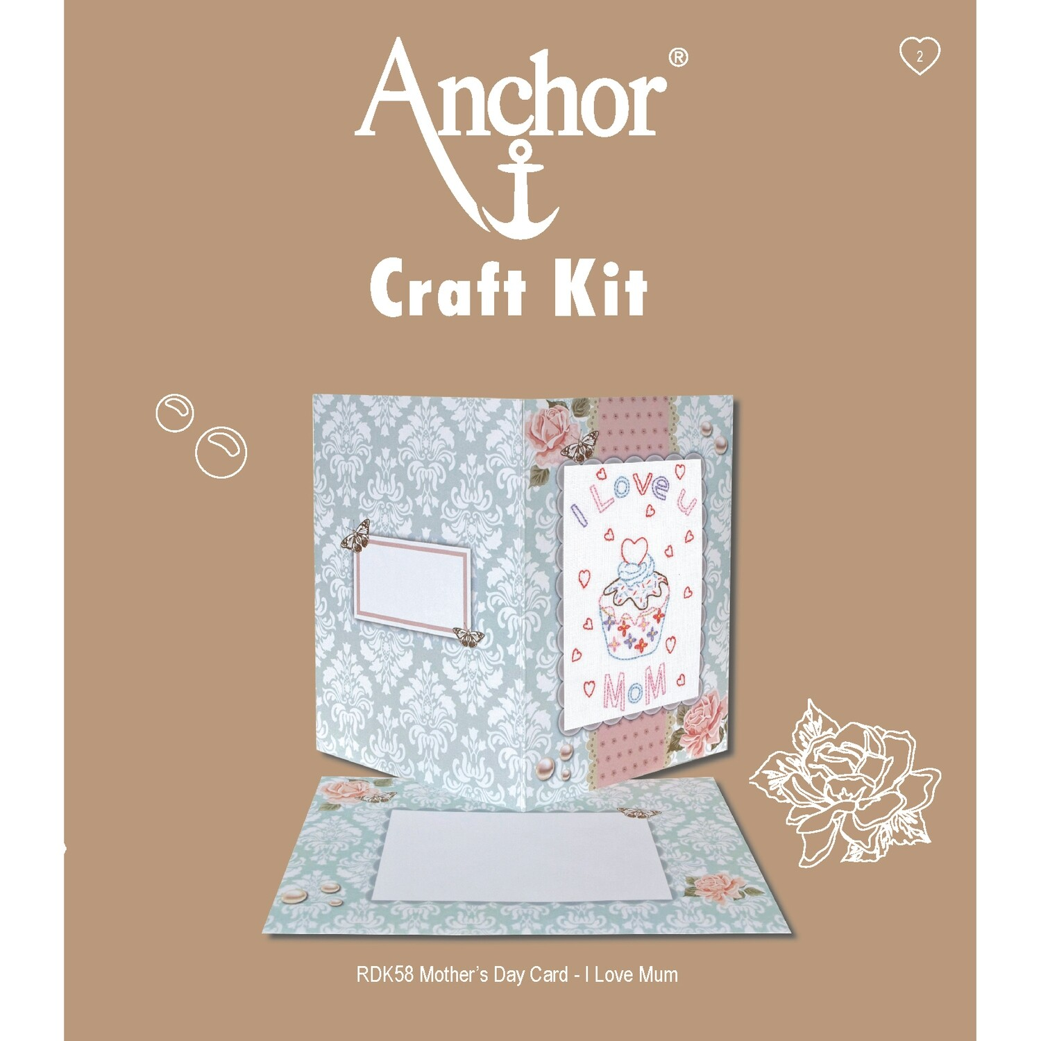 Anchor Craft Kit - I Love U Mom Card