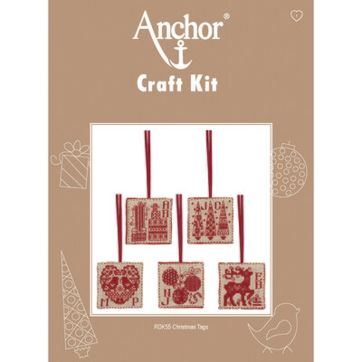 Anchor Craft Kit - Christmas Tags -set 5