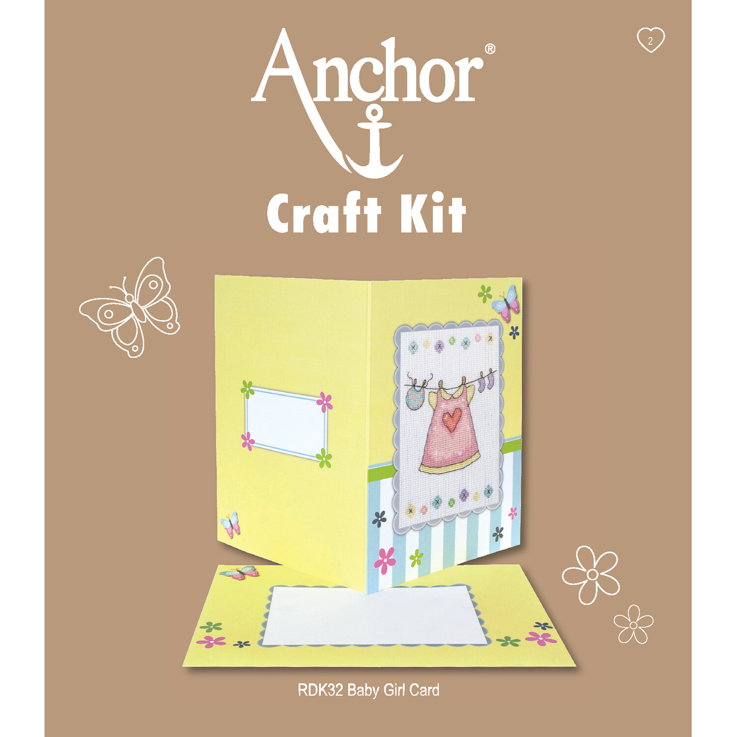 Anchor Craft Kit - Baby Girl Card