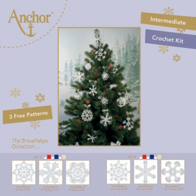 Anchor Crochet Kit - Snowflakes Crochet Set