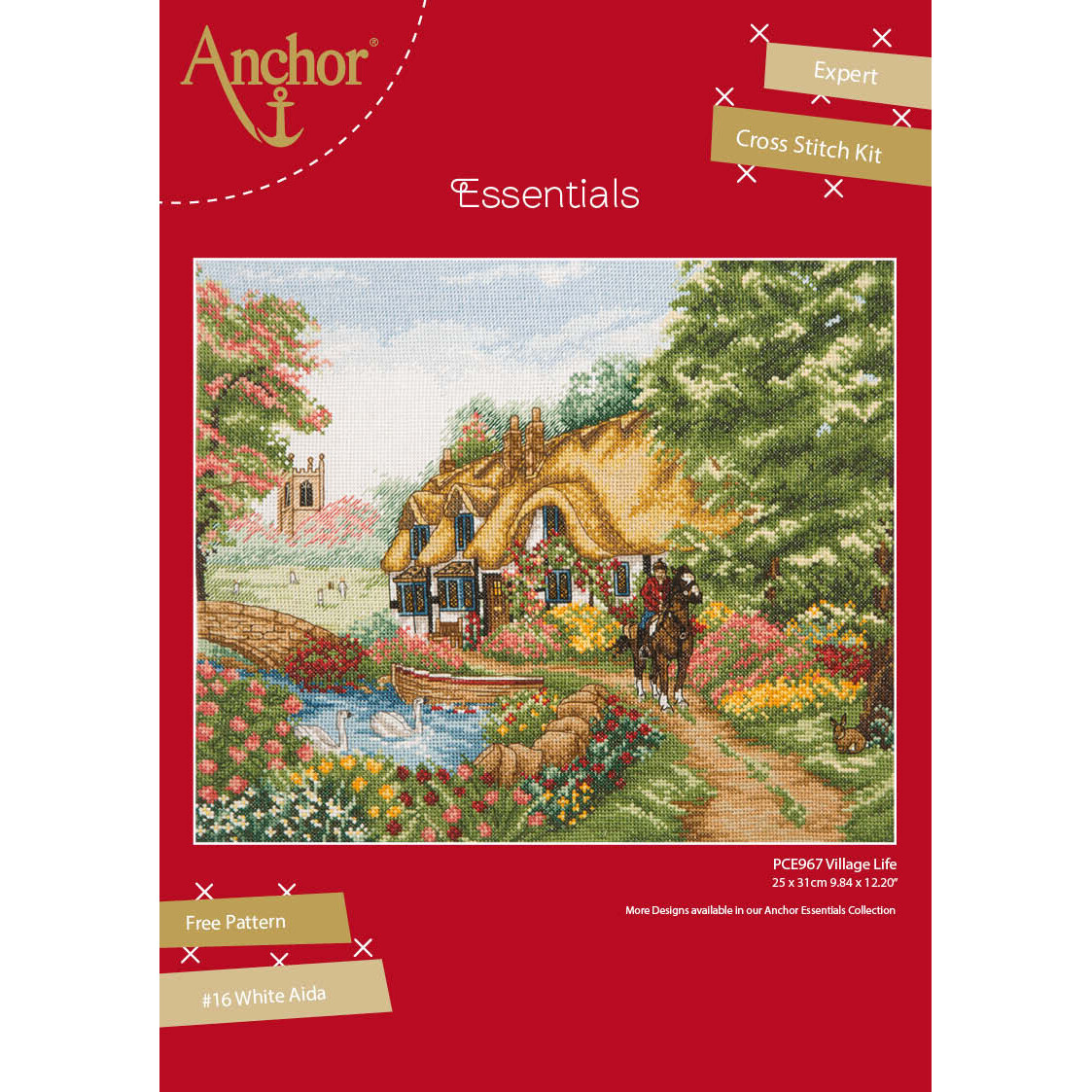 Anchor Essentials Cross Stitch Kit - Village Life