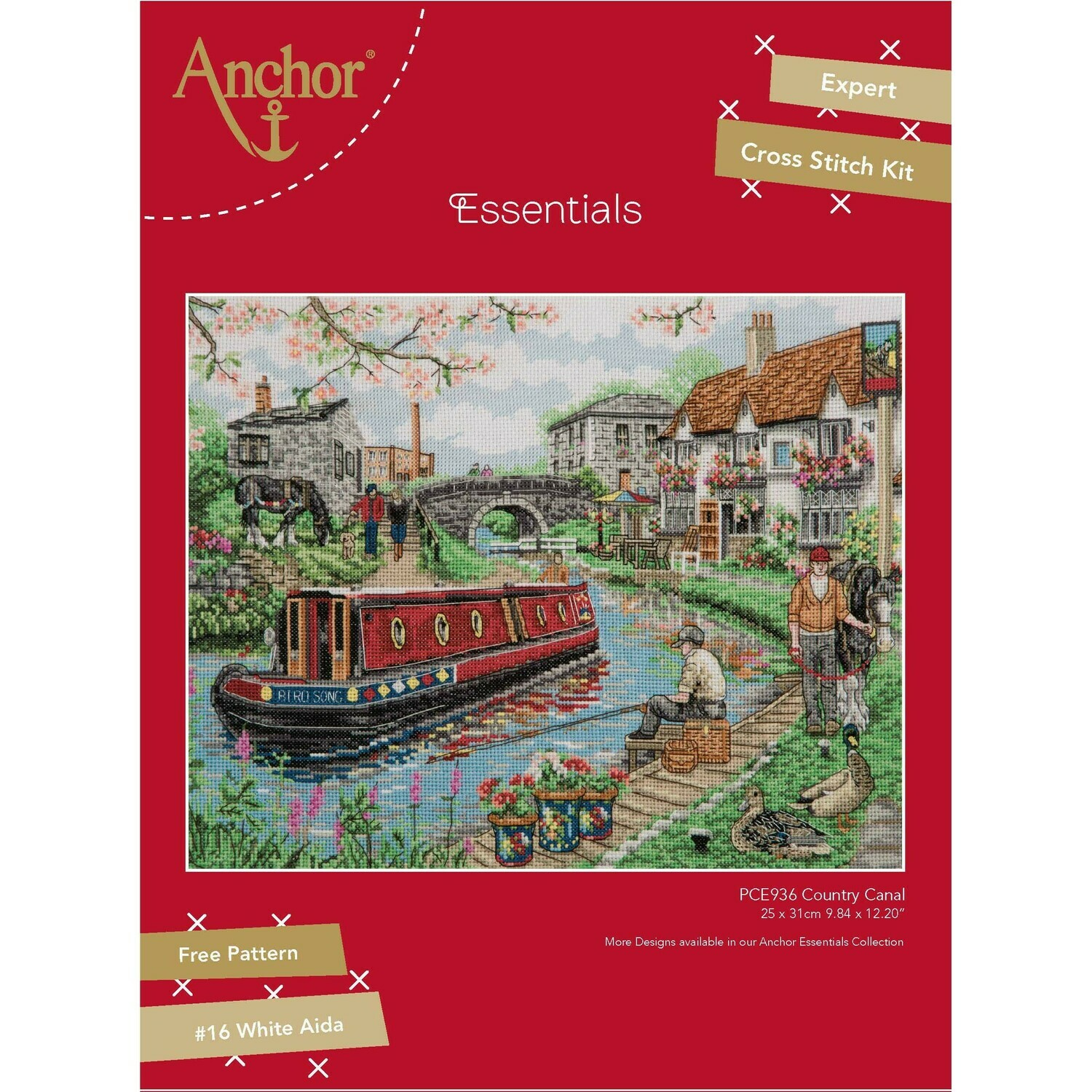 Anchor Essentials Cross Stitch Kit - Country Canal