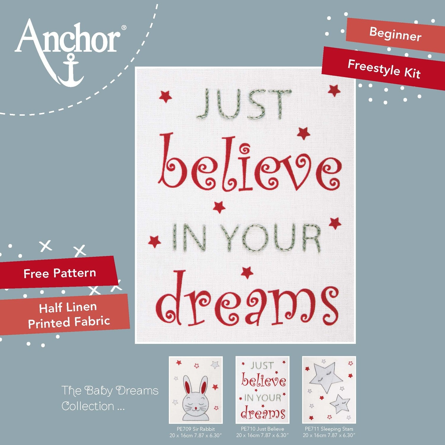Anchor Starter Freestyle Kit - Just Believe 20x16cm