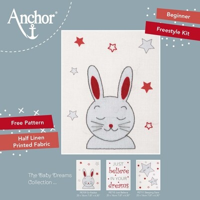 Anchor Starter Freestyle Kit - Sir Rabbit 20x16cm