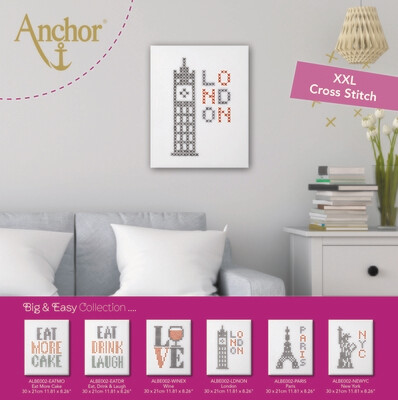 Big & Easy Cross Stitch XL 14X11 - London