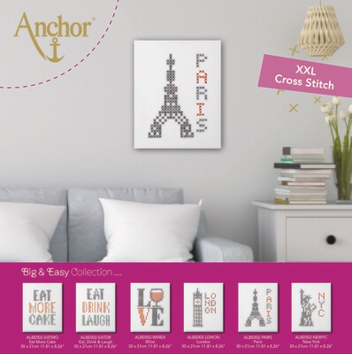 Big & Easy Cross Stitch XL 14X11 - Paris