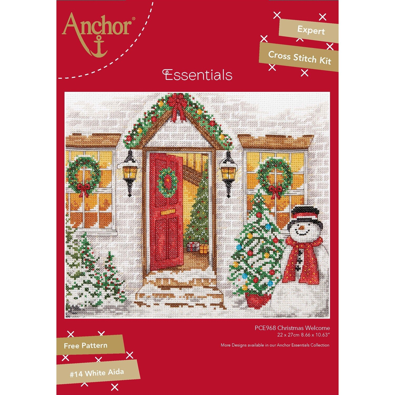Anchor Essentials Cross Stitch Kit - Christmas Welcome