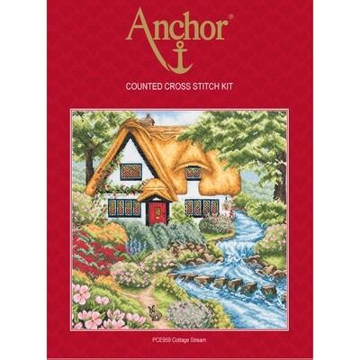 Anchor Essentials Cross Stitch Kit - Cottage Stream