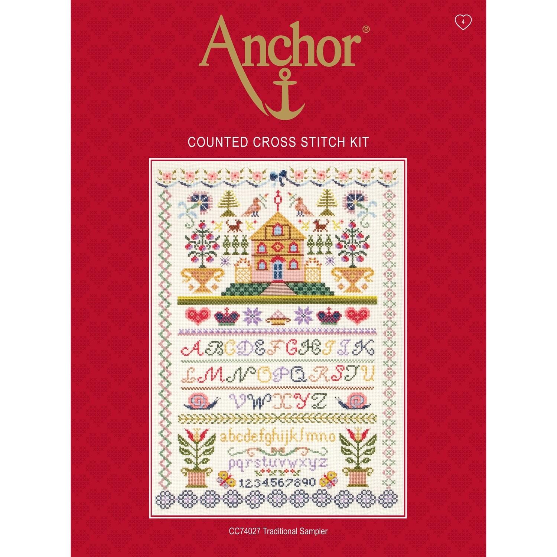 Anchor Essentials Cross Stitch Kit - Traditional Sampler