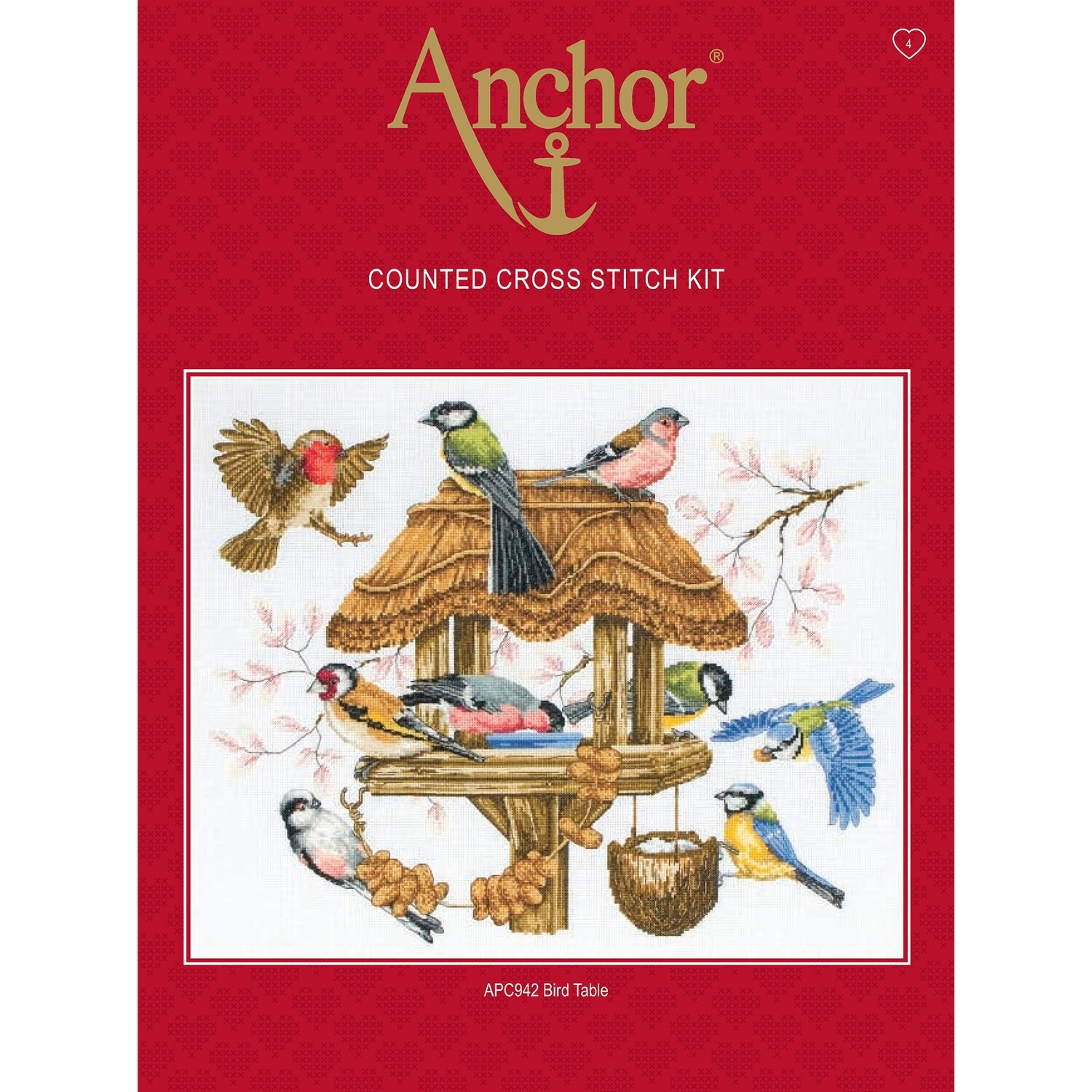 Anchor Essentials Cross Stitch Kit - Bird Table