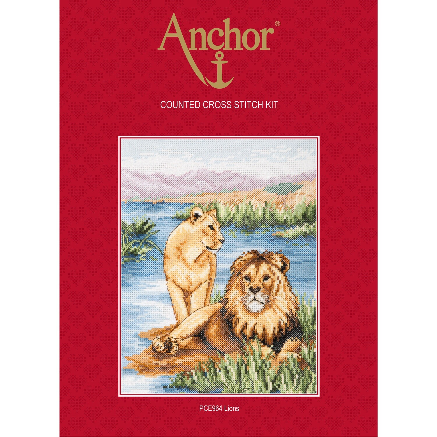 Anchor Essentials Cross Stitch Kit - Lions