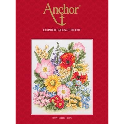 Anchor Essentials Cross Stitch Kit - Meadow Flowers