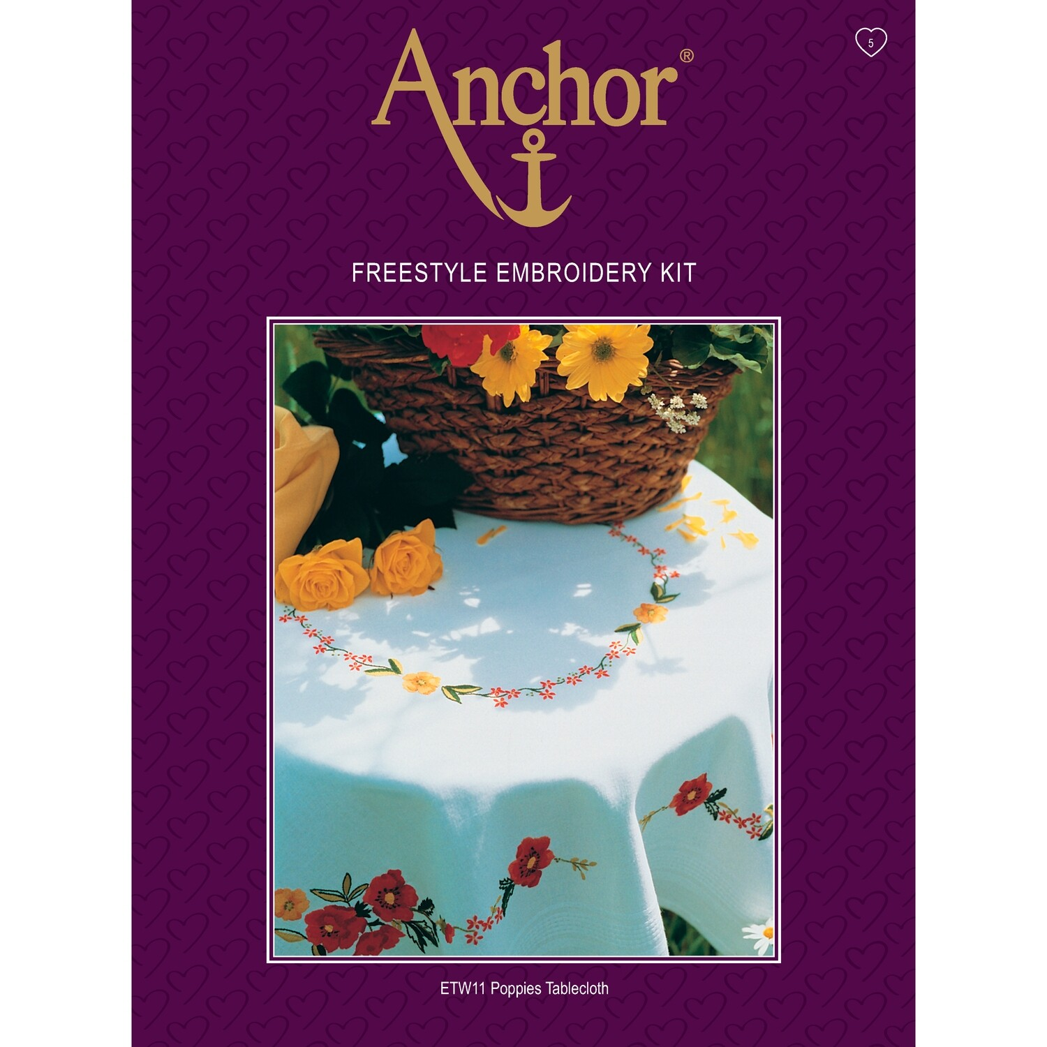 Anchor Essentials Freestyle Kit - Poppies Tablecloth
