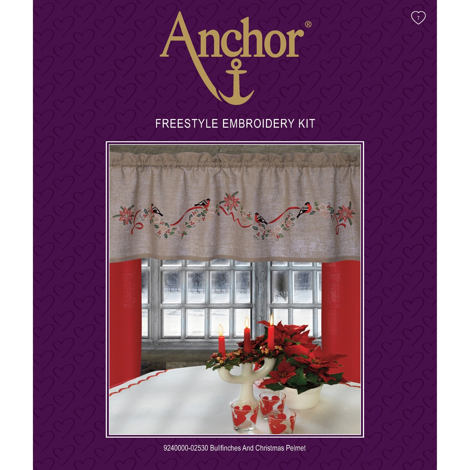 Anchor Essentials Freestyle Kit - Bullfinches and Christmas Pelmet