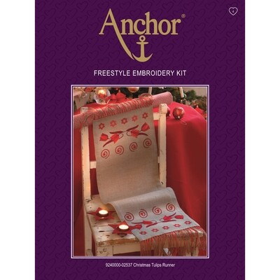Anchor Essentials Freestyle Kit - Christmas Tulips Runner